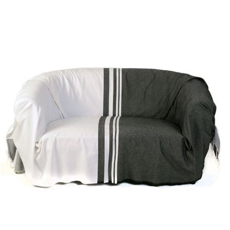 jeté de canapé grande taille jeté pour canapé format rectangulaire noir et blanc 100