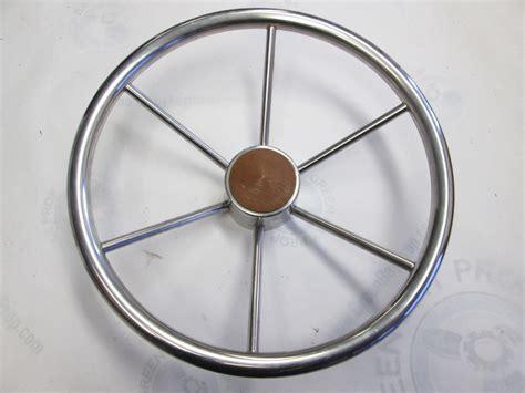 Boat Steering Wheel Shaft by Vintage Boat Stainless Steel 14 75 In Steering Wheel 6