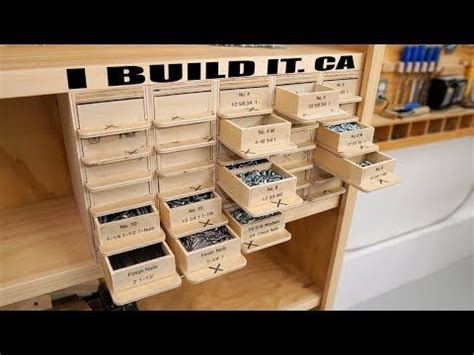 making  screw organizer  drawers  compartments