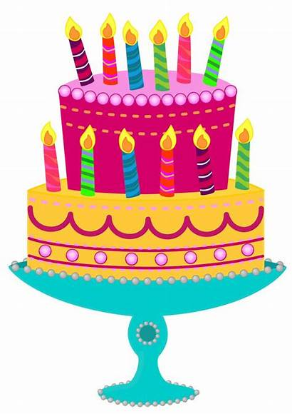 Birthday Clip Clipart Cake Cakes Cliparts Paper