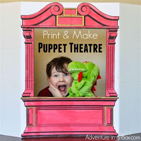 simple puppet theatre  cardboard adventure