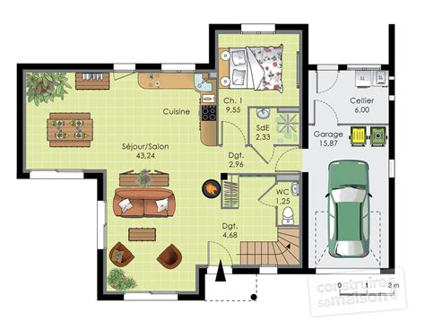 plan maison 4 chambres etage plan maison 110m2 4 chambres etage ventana