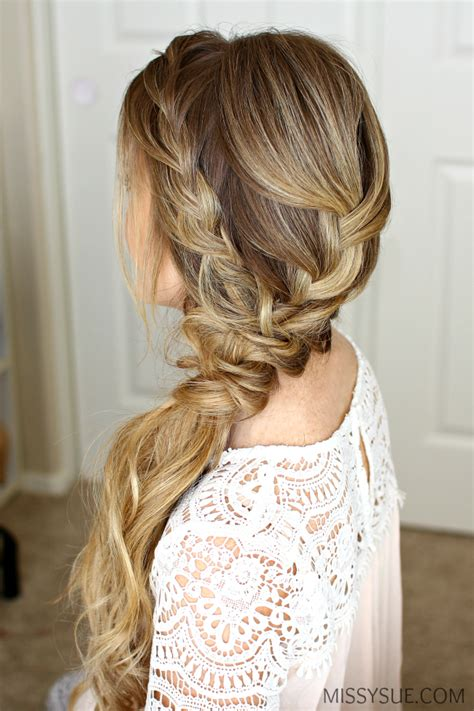 Formal Hairstyles On The Side braided side swept prom hairstyle hairstyles prom hair