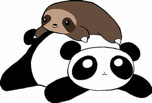 """Little Sloth and Panda"" Stickers by SaradaBoru Redbubble"