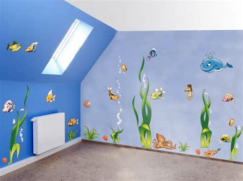 wandgestaltung kinderzimmer unterwasserwelt wandgestaltung kinderzimmer junge