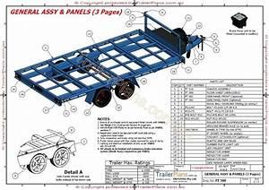 3500kg Flat Top Wide Bed Trailer Plans  Trailerplans