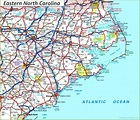 Map of Eastern North Carolina