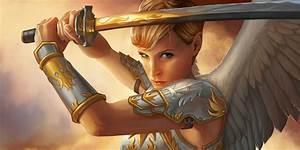 War, Angel, Fantasy, Armor, Sword, Girl, Wing, Woman, Warrior, Wallpapers, Hd, Desktop, And, Mobile