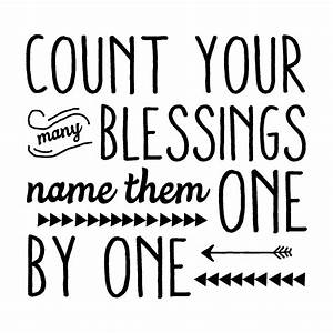 One By One : count your blessings wall quotes decal ~ Medecine-chirurgie-esthetiques.com Avis de Voitures