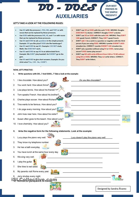 Auxiliaries Do  Does  Nonfiction  Pinterest  English Lessons, Worksheets And Activities