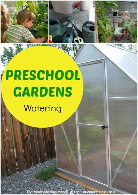 gardening with preschool garden watering the 552 | watering