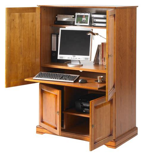 bureau refermable meuble ordinateur fermé bureaux prestige