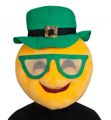 st patricks day cool emoji adults face mask masks mega