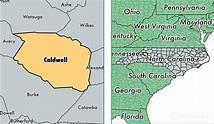 Caldwell County, North Carolina / Map of Caldwell County ...