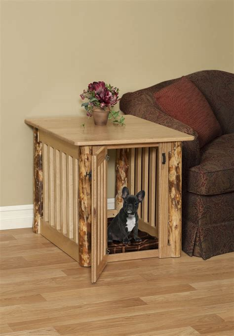 dog cage end table rustic dog bed dog crate for hunting cabin rustic end table