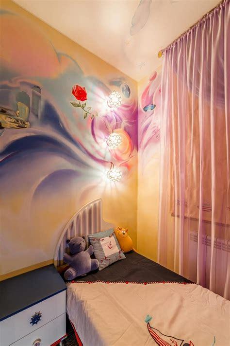 fresque murale chambre fille fresque murale dans la chambre d enfant 35 dessins joviaux