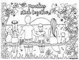 Coloring Together Stick Families Pages Relax Enjoy Inkhappi sketch template