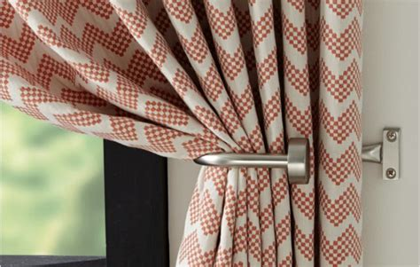 Set Of 2 Matte Nickel Curtain Tie Backs + Reviews