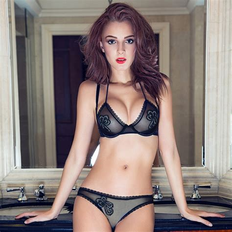 2015 france brand special sexy lingerie set see through ...