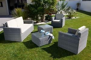 Deco Jardin Pas Cher : soldes salon de jardin r sine tress e gris bricolage ~ Premium-room.com Idées de Décoration