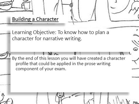 prose writing building  character teaching resources