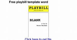 Magnificent Broadway Playbill Template Contemporary ...