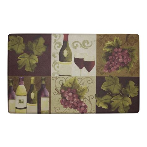 Chef Kitchen Rugs by Chef Gear Wellness Wine 20 In X 32 In Anti Fatigue