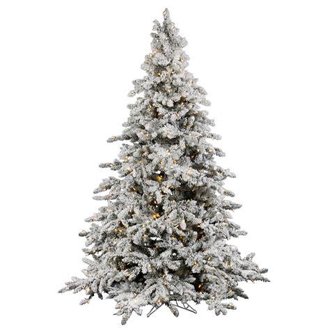 vickerman 7 5 flocked utica tree with 700 led italian lights