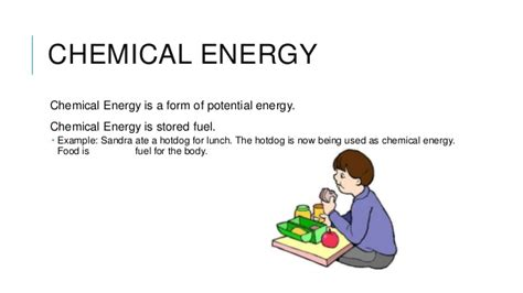 chemical energy is a form of energy forms of energy