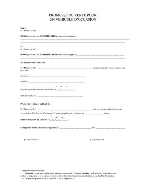document vente voiture occasion compromis de vente voiture d occasion voiture d occasion