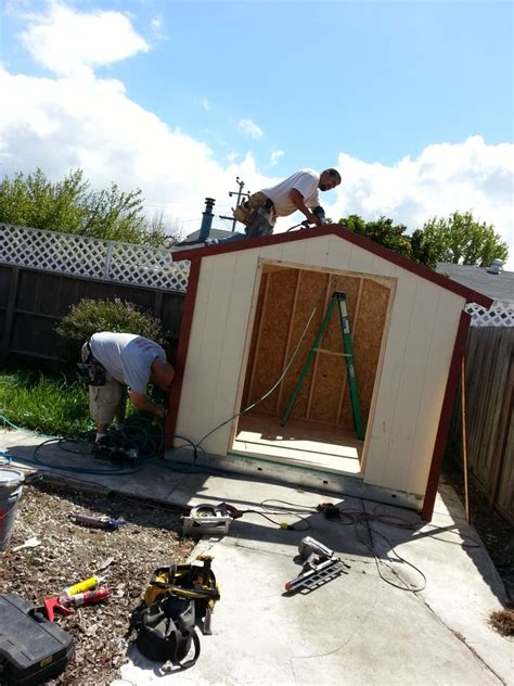 tuff shed contractors hard at work yelp