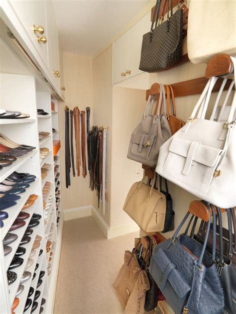 Closet Hooks For Purses by Walk In Closet With Storage For Shoes And Handbags 183 More Info
