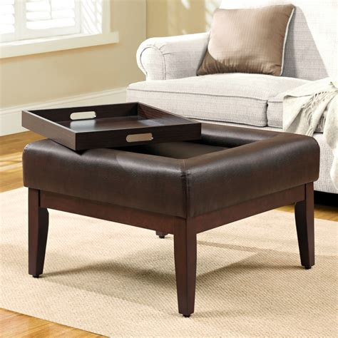ottoman and coffee table simple modern square tufted ottoman coffee table with tray