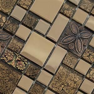 Crystal, Glass, Mosaic, Tile, Snowflake, Style, Mosaic, Art, Design