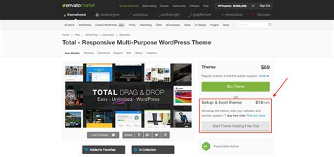 total wordpress theme envato wordpress hosting total