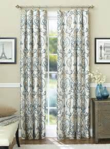these stylish ikat scroll curtain panels are designed to