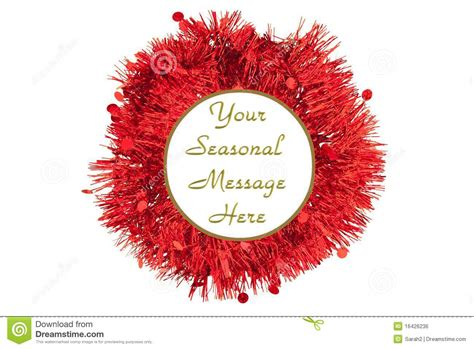 tinsel border red green royalty  stock image image