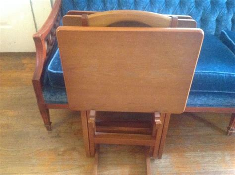 wooden tv trays with stand 17 best images about folding tv tray tables on 1964