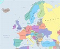 Free photo: Map of Europe - Clipart, Continents, Countries ...