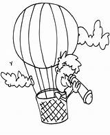 Balloon Coloring Air Printable Balloons Basket Drawing Colouring Template Transportation Rider Getdrawings Popular Pdf Coloringhome sketch template
