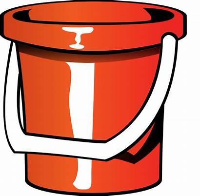 Bucket Pail Clip Clipart Vector Clker
