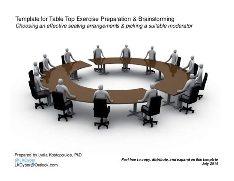 tabletop exercise template template for table top exercise seating arrangement and moderator sel