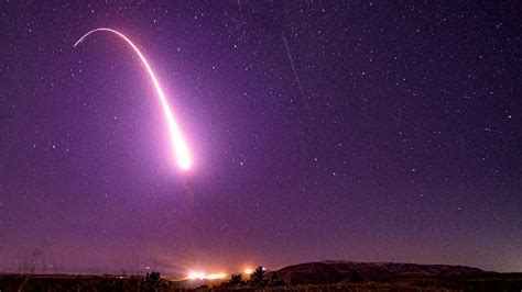 Air Force test-launches intercontinental ballistic missile