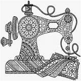 Sewing Coloring Machine Adults Apps Drawing App Pdf Mandala Zentangle K5worksheets Drawings Doodle Patterns sketch template