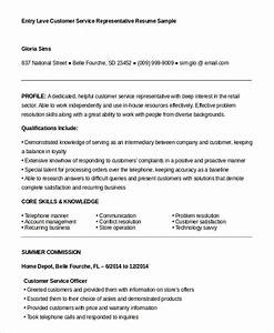 Customer Service Representative Resume 9 Free Sample