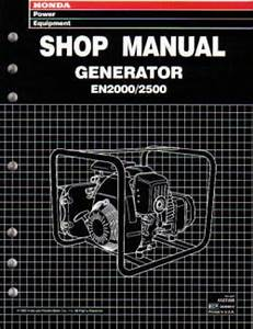 Honda En2000 And En2500 Generator Shop Manual