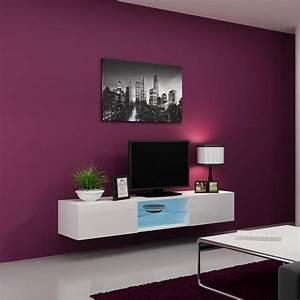 Meuble Tv 180 Cm : meuble tv white storm 180cm azura home design ~ Teatrodelosmanantiales.com Idées de Décoration