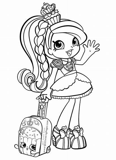 Coloring Pages Shopkins Printable Getcolorings Vacation