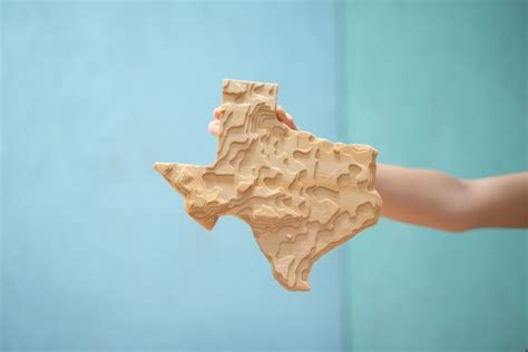 cnc topographical wooden state evan katelyn home diy
