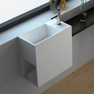lave main faible profondeur 40x20 cm matiere composite With salle de bain design avec mini vasque lave main